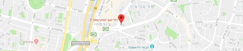 Real estate attorney in israel- map